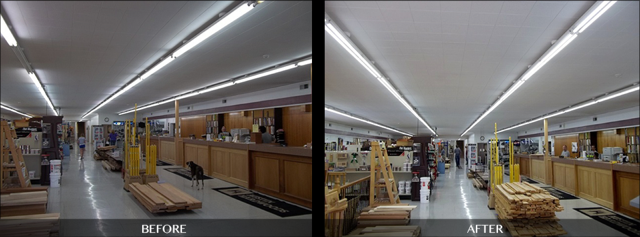 Retail Store Brighter After LED Installation in Buffalo NY